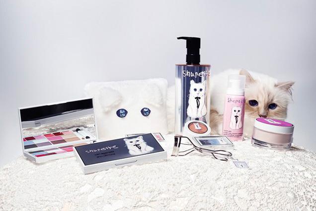 Choupette-Shupette-Shu-Uemura-maquiagem-Karl-Lagerfeld