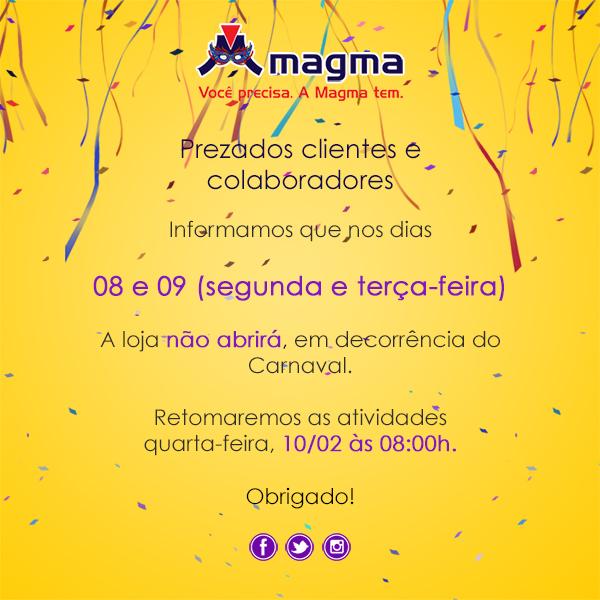 Comunicado Carnaval 2016